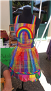 rainbow apron at Earth Day 2018
