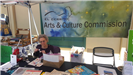 arts and culture commission booth at Earth Day 2018