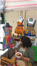 colorful aprons at Earth Day 2018