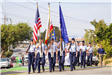 201 ROTC color guard in Parade - Photo by Marin Stuart