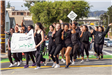 231 ECHS Dance students in Parade - Photo by Marin Stuart