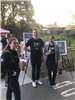 Staff members at Bike to Work Day 2018