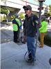 Unicycle at Bike to Work Day 2018