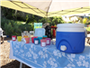 refreshment station at Earth Day 2018