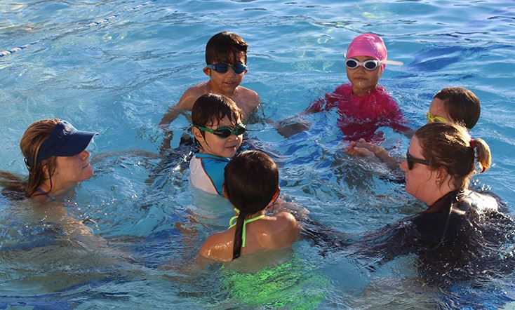 Kids at pool