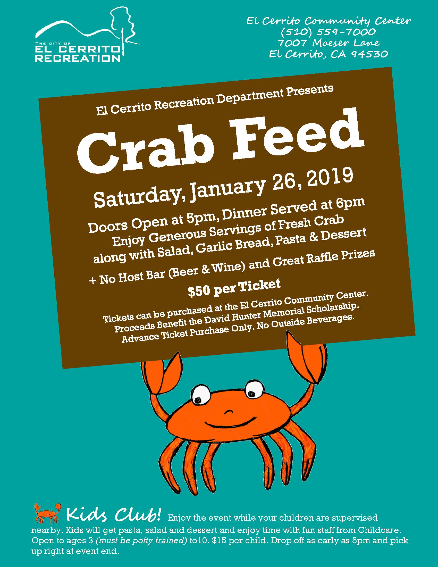 Crab Feed 2019 Flyer